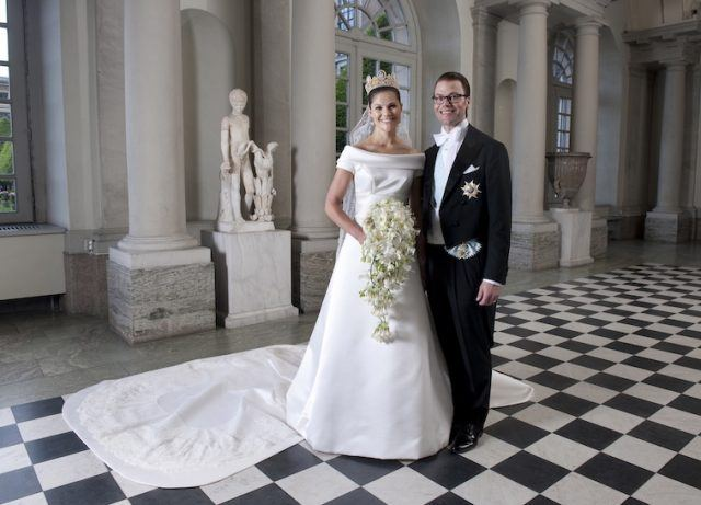Crown Princess Victoria of Sweden and Prince Daniel on their wedding day.