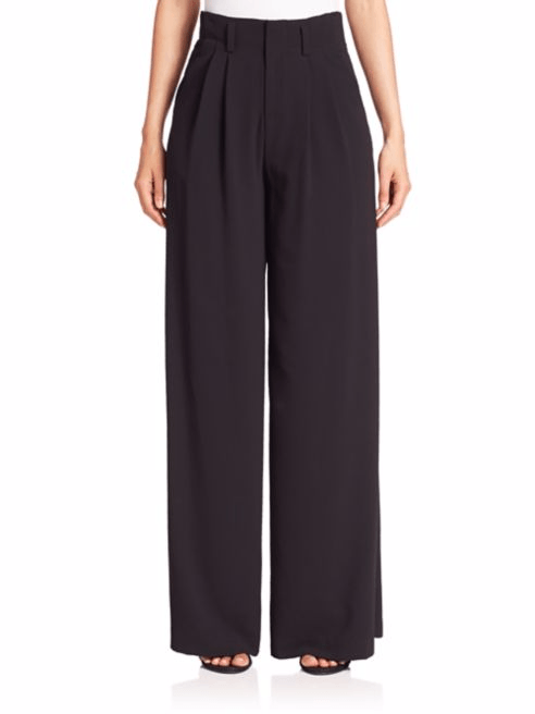 Black Alice + Olivia Eloise Wide-Leg Pants