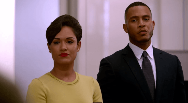 Grace and Trai Byers as Anika Calhoun and Andre Lyon on Empire