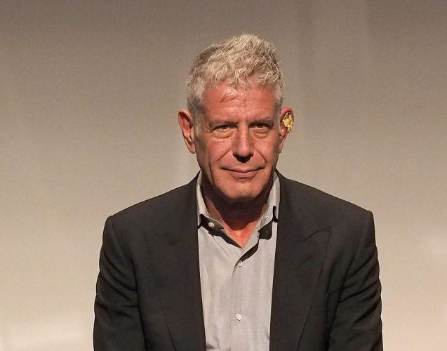 Anthony Bourdain during a press event.