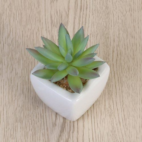 WINOMO Modern Potted Green Artificial Succulent Plants