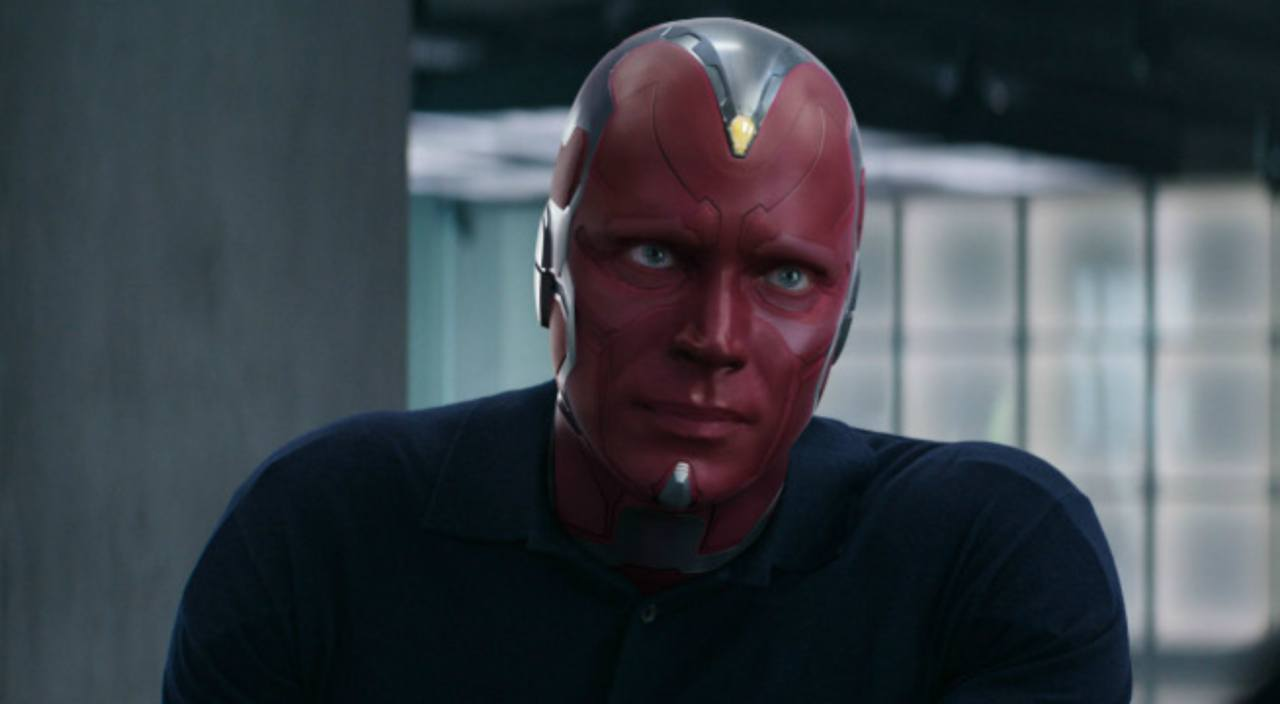 Vision stares ahead in Avengers: Age of Ultron