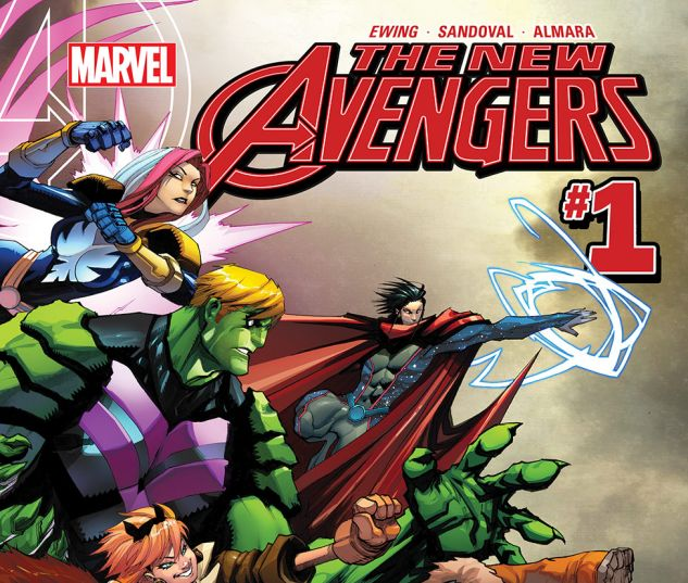 The cover of a New Avengers comic book issue