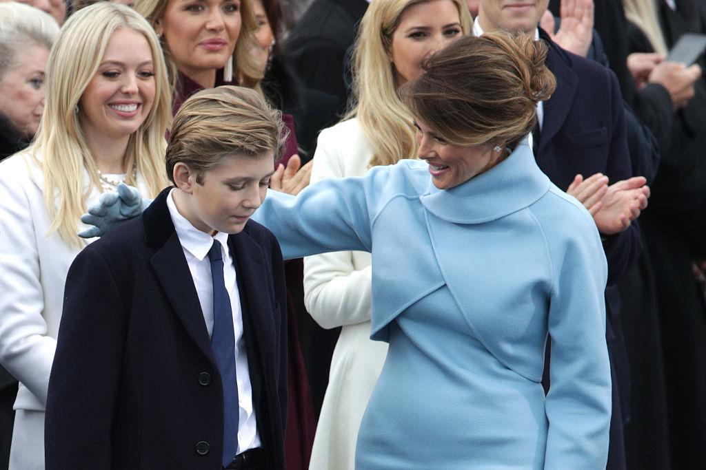 Melania and Barron Trump