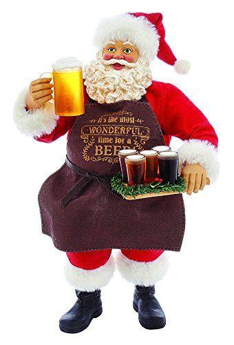 "Kurt Adler 11"" Fabriche' Beer Santa"