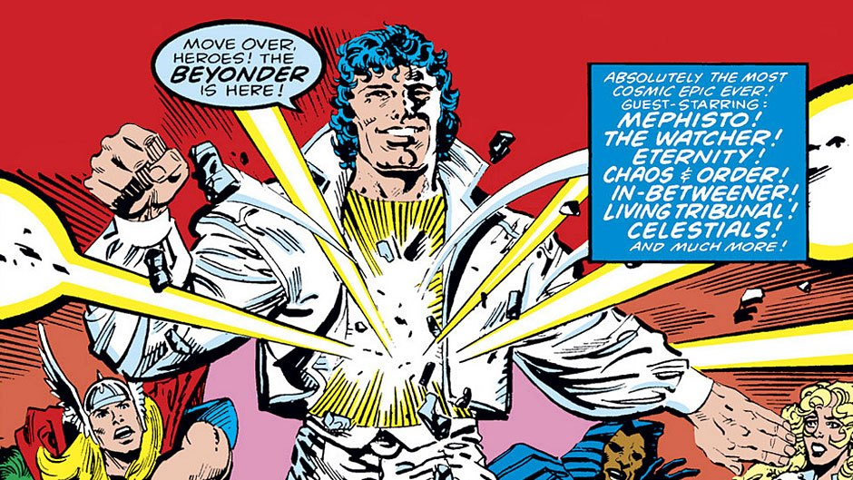 "A Beyonder on the cover of ""Secret Wars II"""