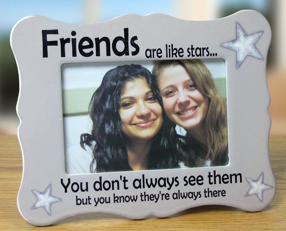 """Friends Picture Frame - Ceramic Picture Frame Fits a 4"""" X 6"""" Photo"""