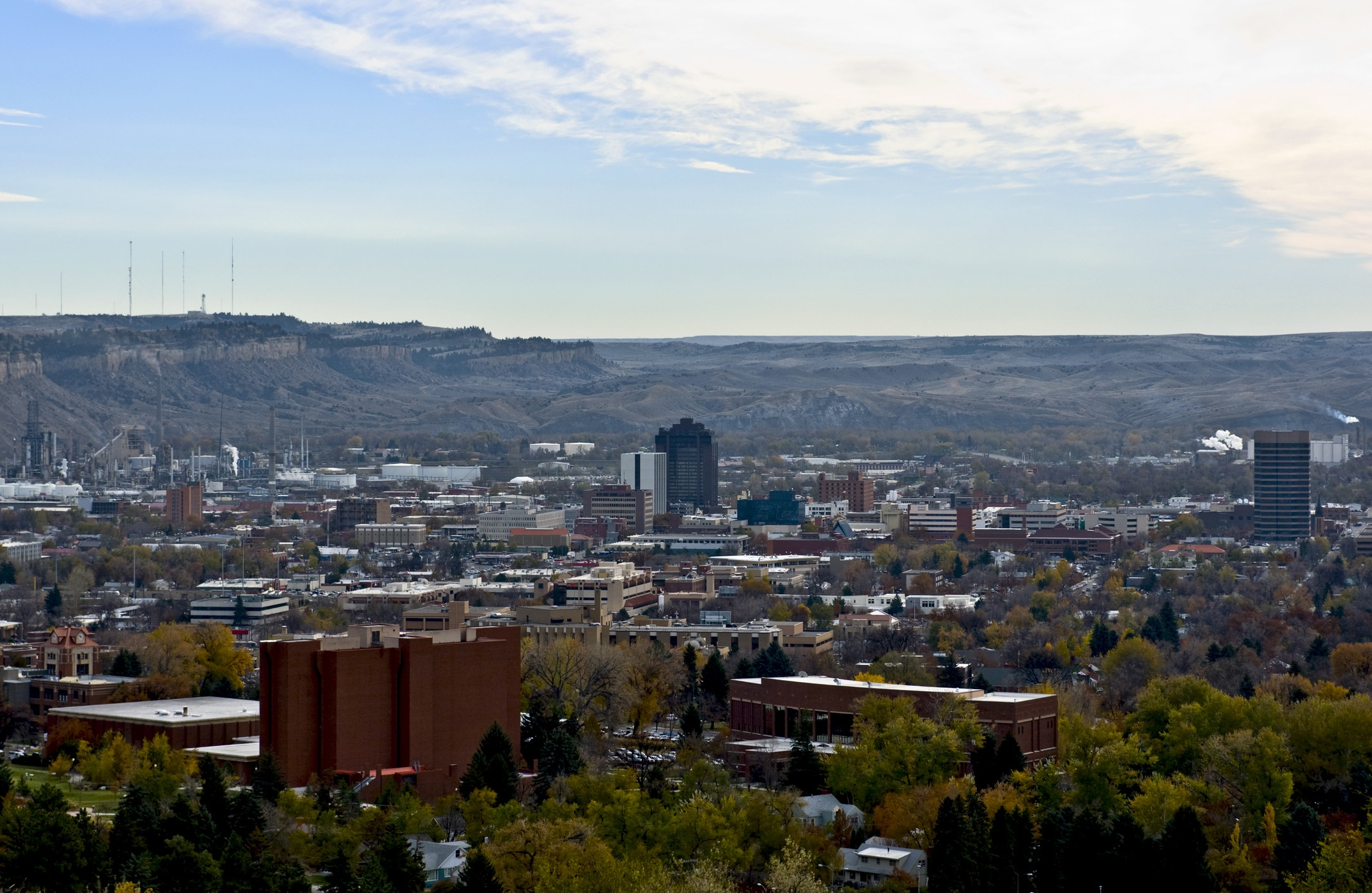 Aerial shot of Billings, Montana