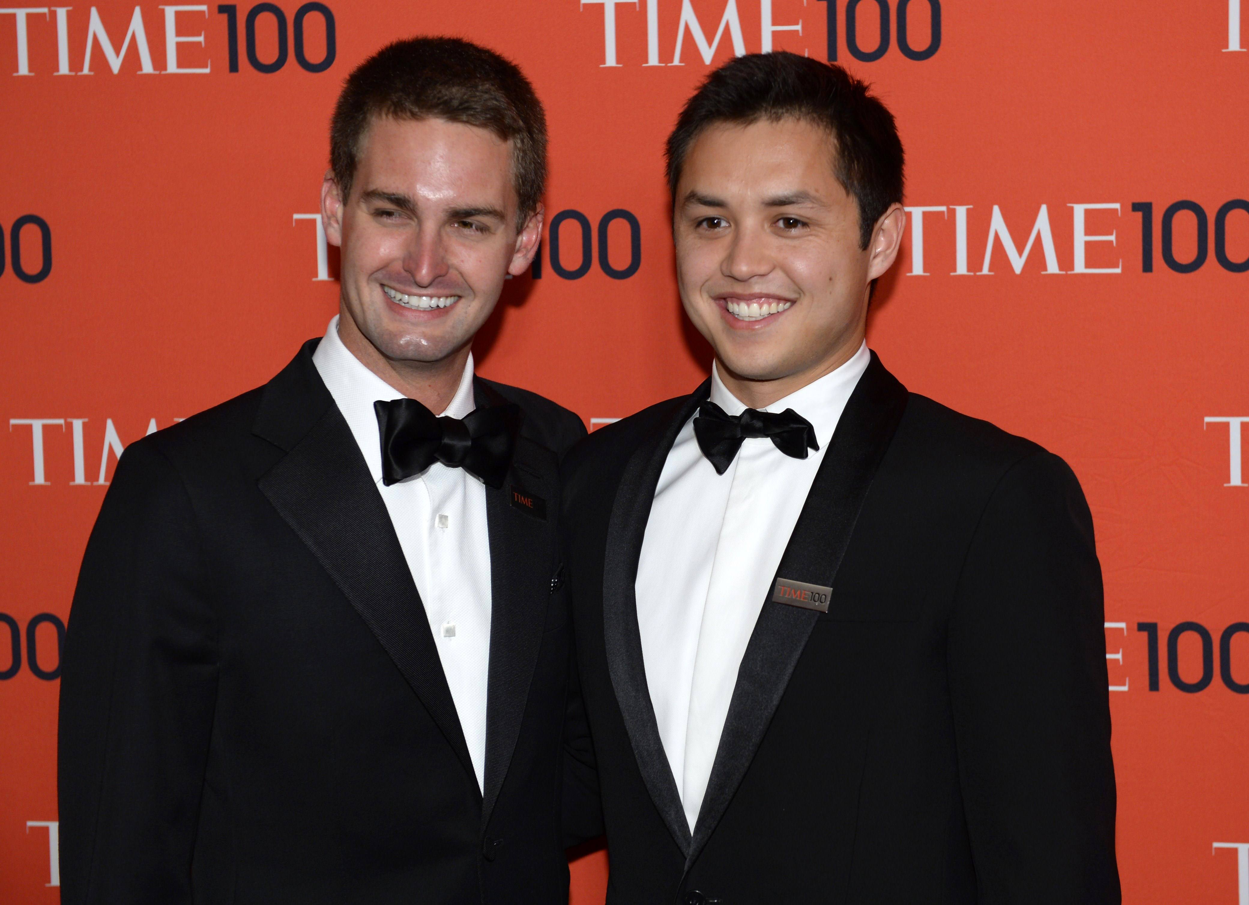 Evan Spiegel and Bobby Murphy