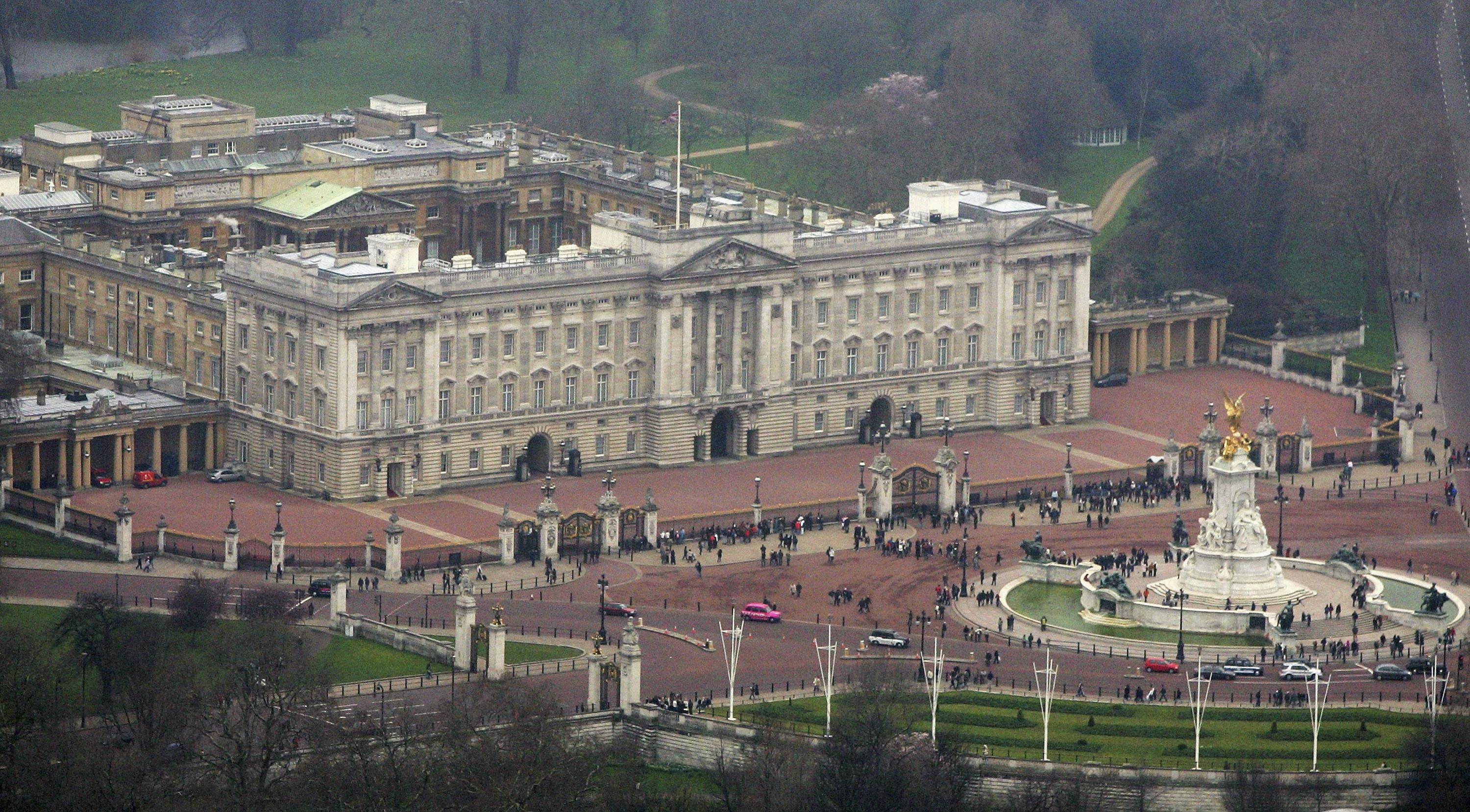 Buckingham Palace Aerial View