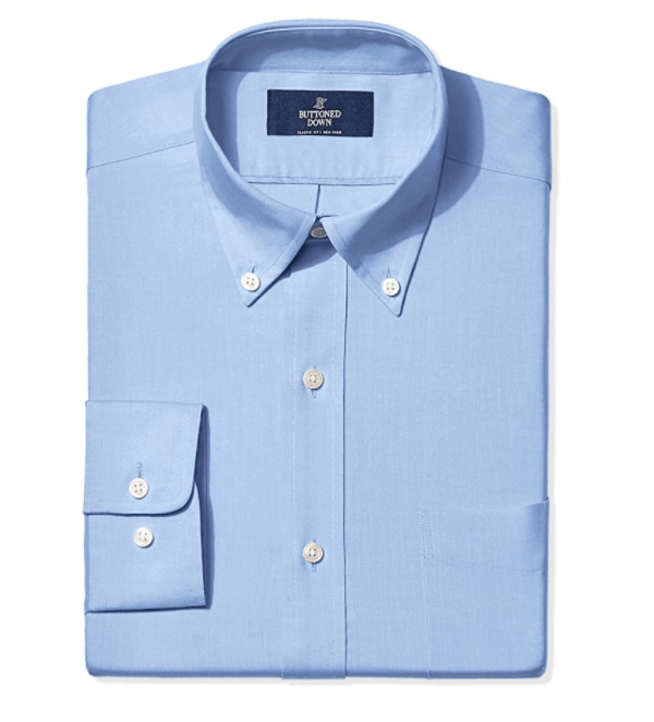 Buttoned Down Men's Classic Fit Collar Solid Non-Iron Dress Shirt