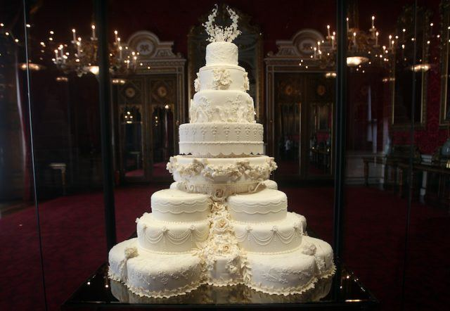 Kate Middleton and Prince William's wedding cake.