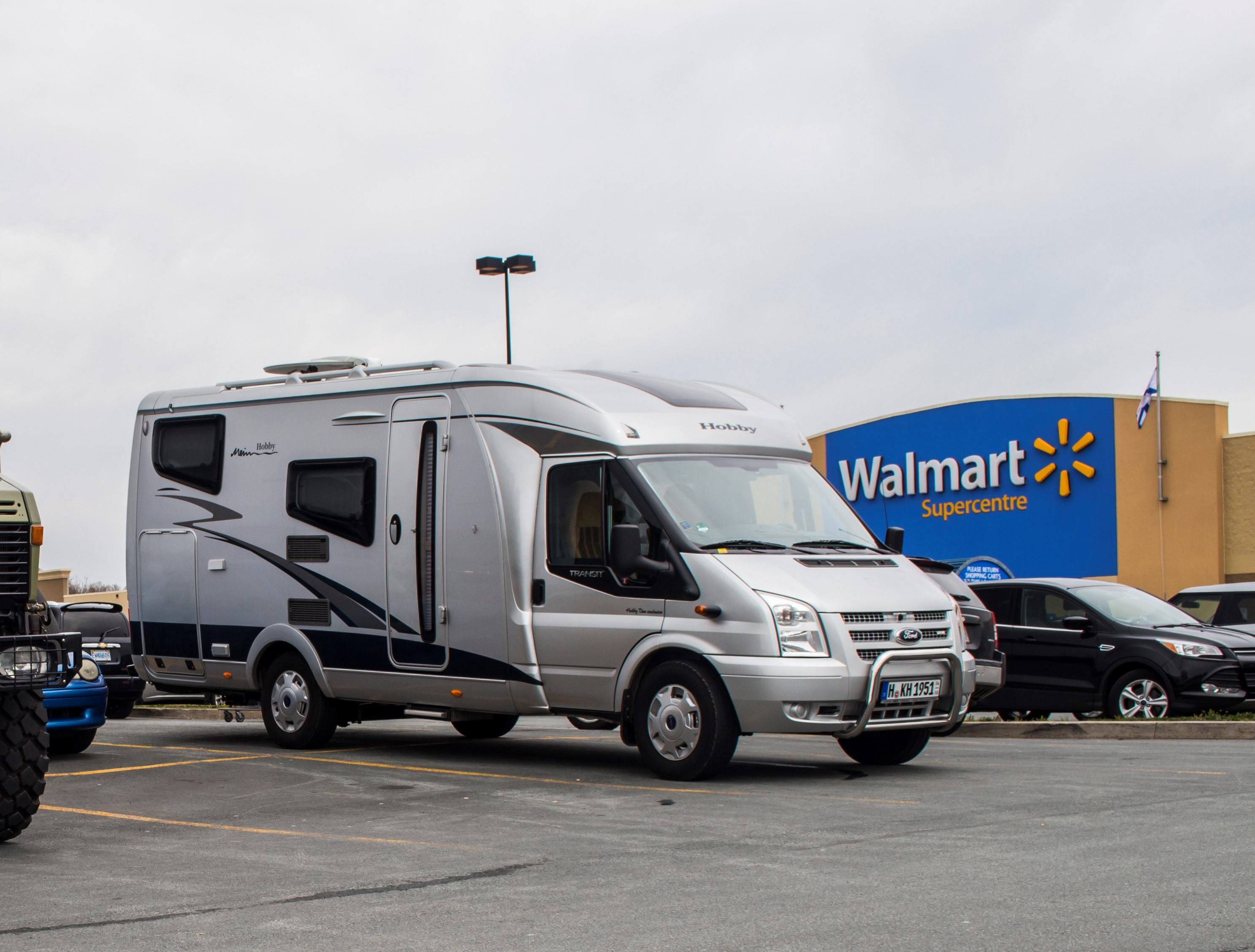 California beach camping with rv hookups at walmart