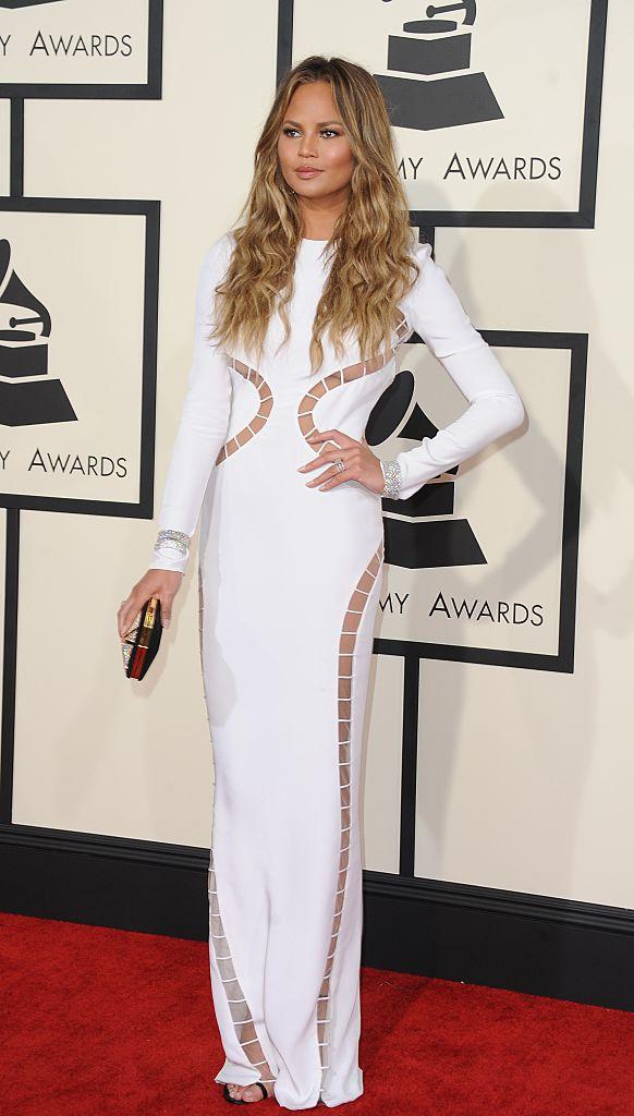 Chrissy Teigen at the Grammy's