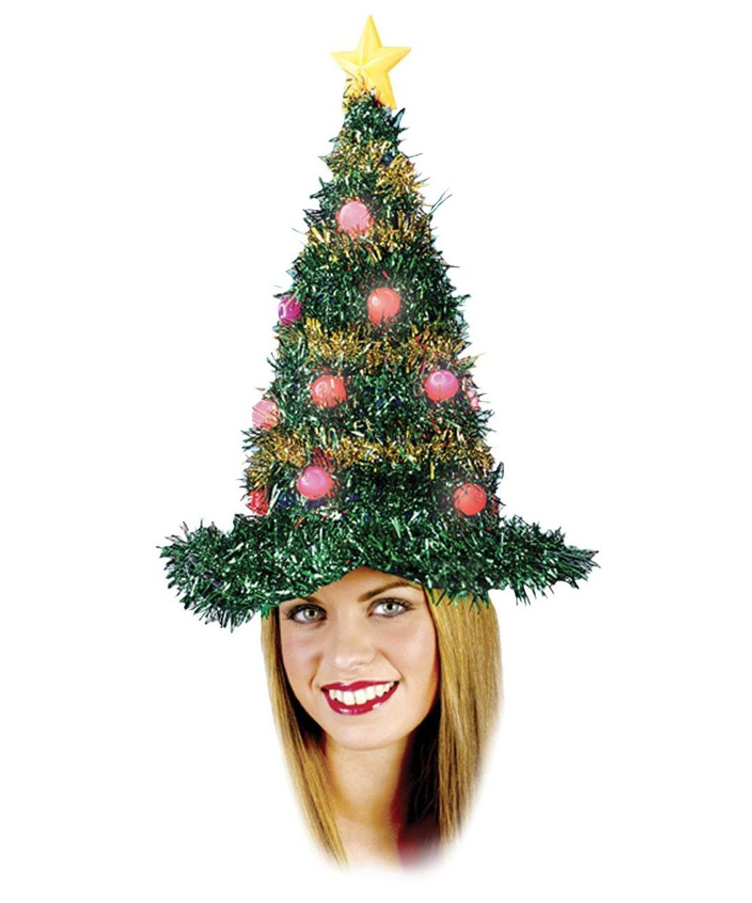 Christmas Tree Light Up Hat