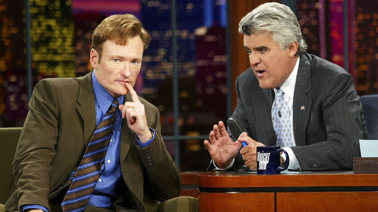 Conan O'Brien and Jay Leno on The Tonight Show