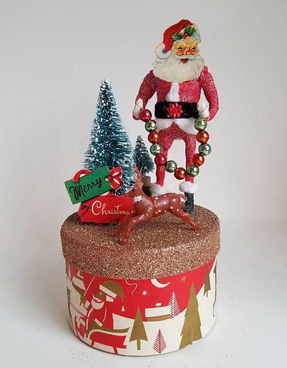 Cotton and Wood Santa
