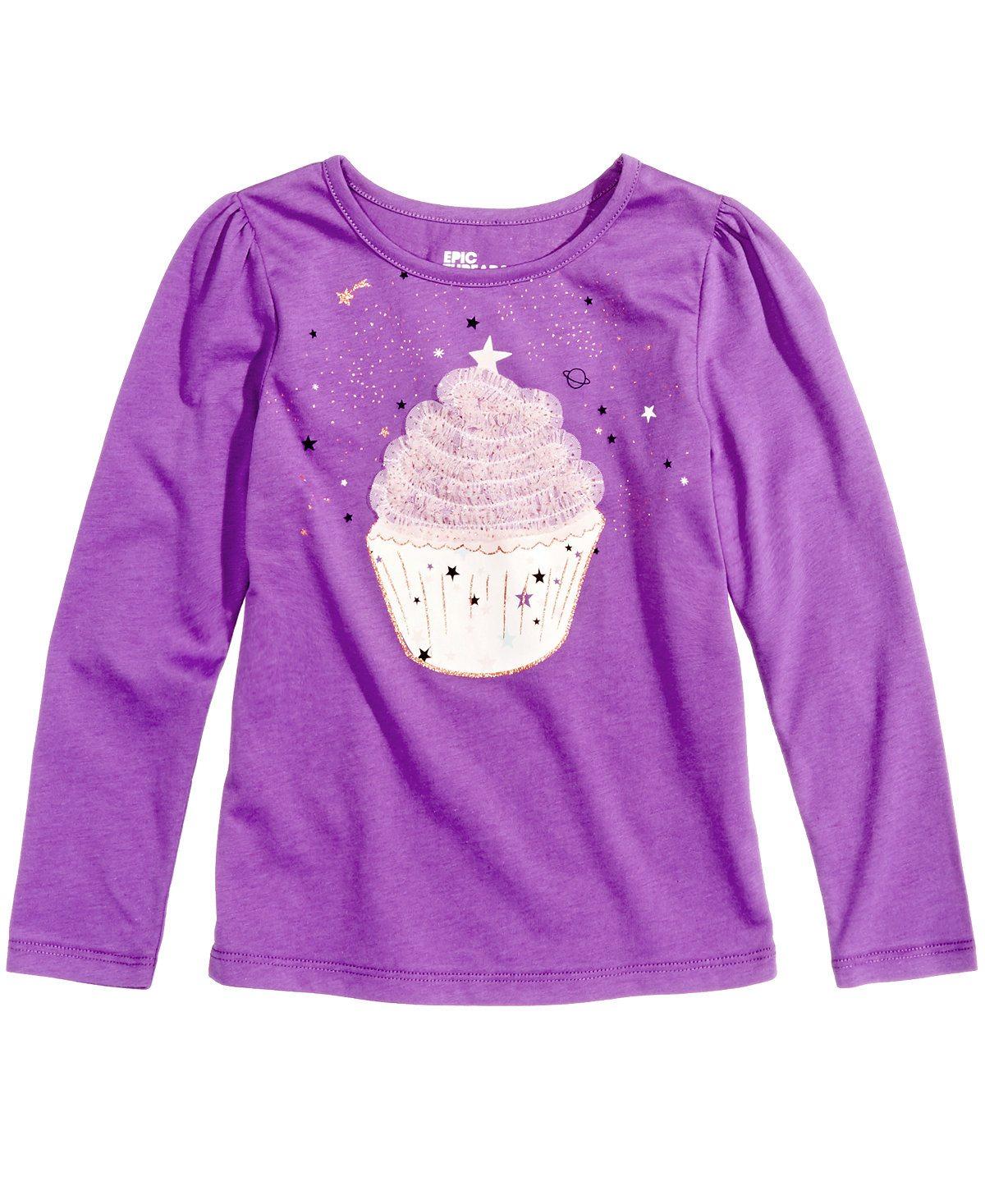 Cupcake shirt girls