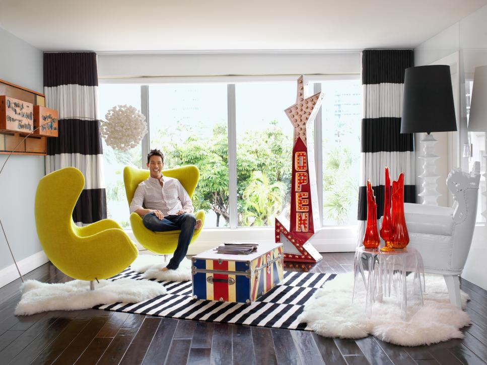 HGTV's David Bromstad shows off his design.