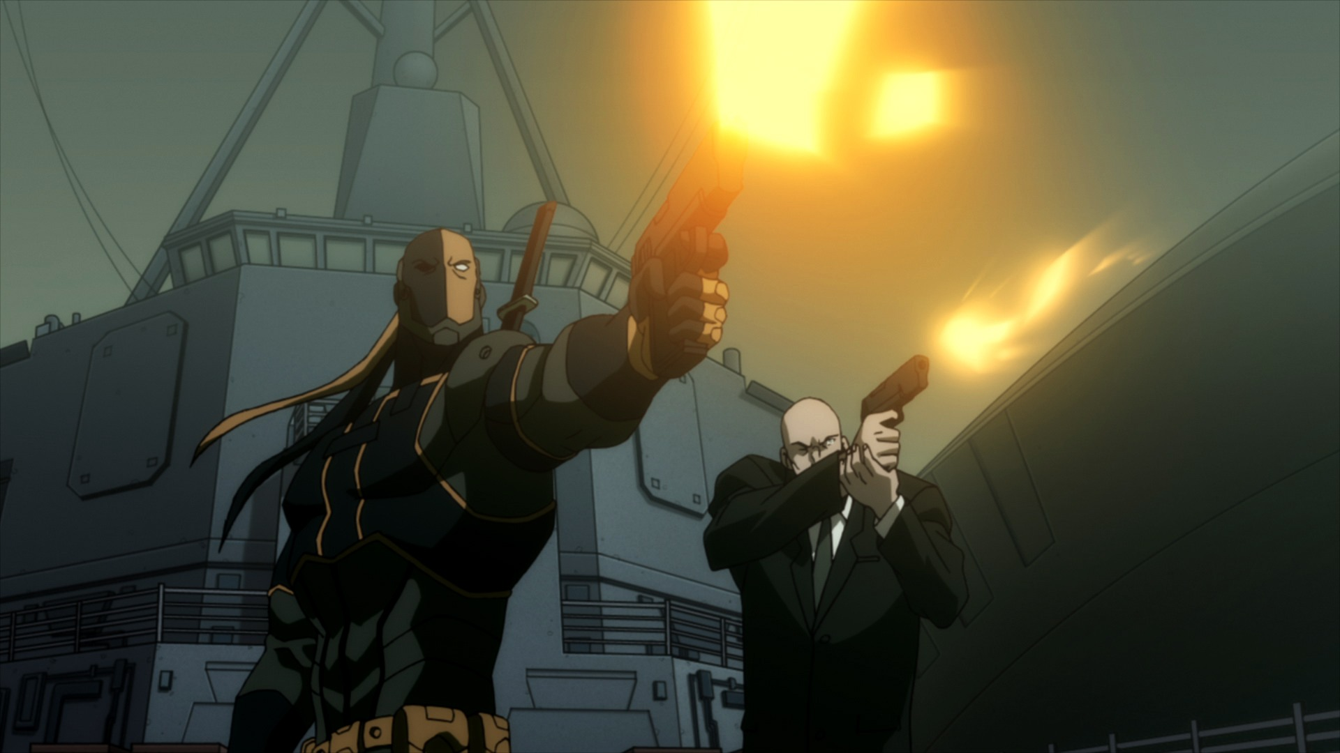 Deathstroke and Lex Luthor in Justice League: The Flashpoint Paradox