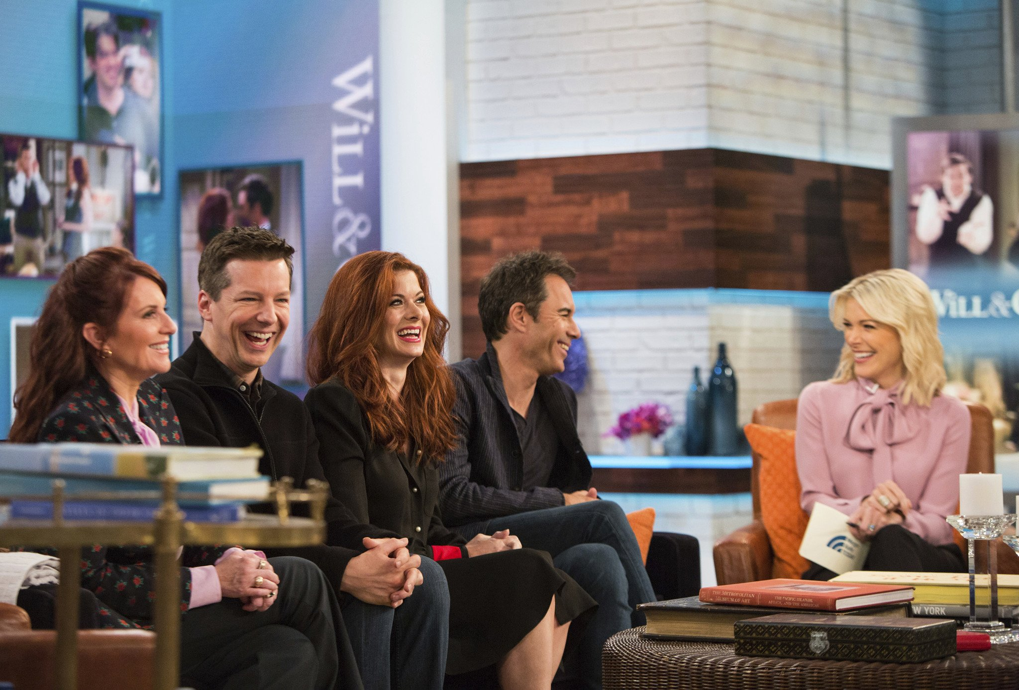 Debra Messing and her Will & Grace co-stars on Megyn Kelly Today