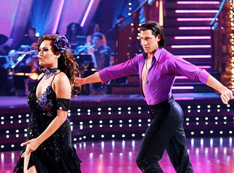 Tia Carrere dances with Maks on Dancing With the Stars