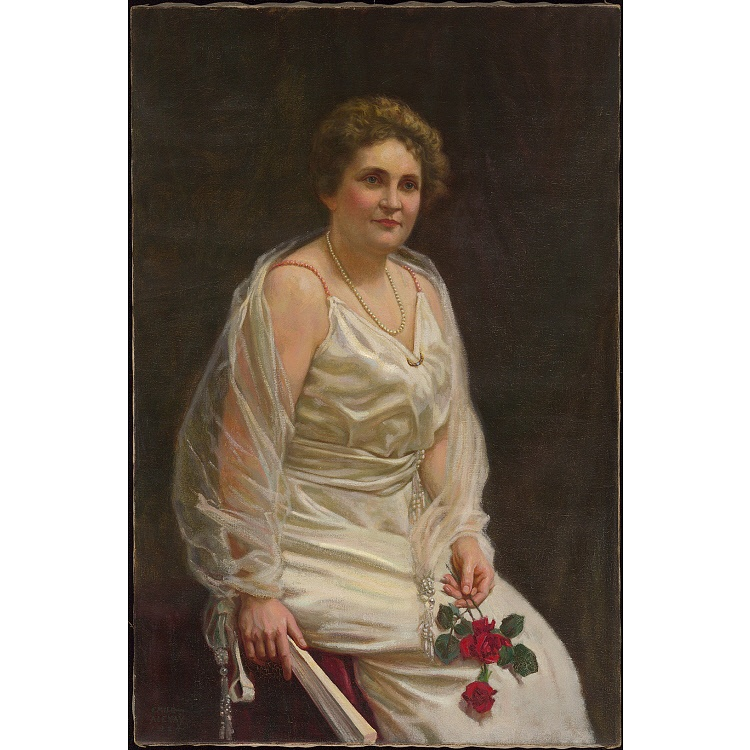 official portrait of edith wilson