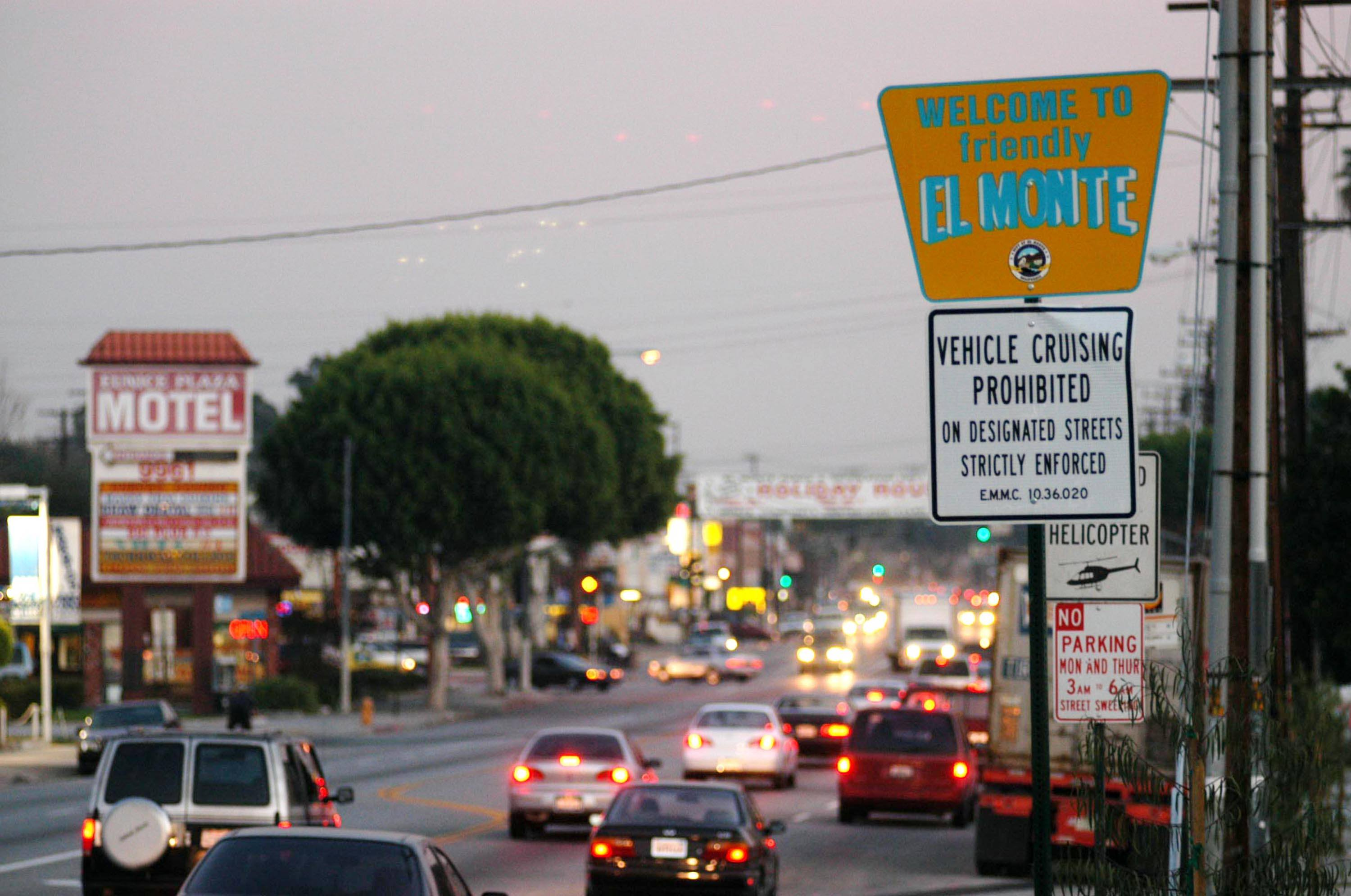 A sign of City of El Monte, California