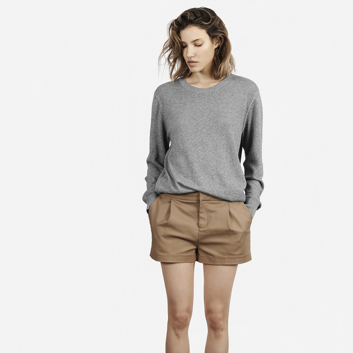 The Pleated Short in Hazel