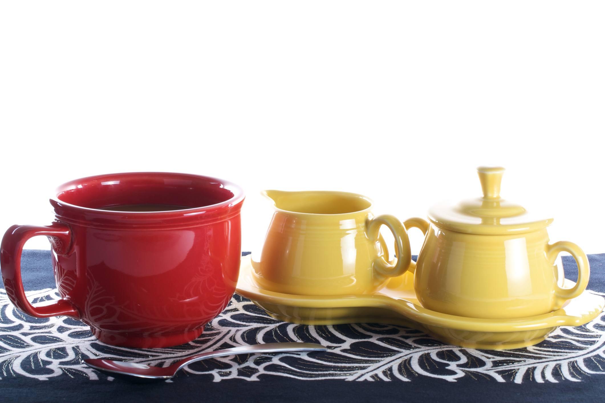 coffee in fiestaware