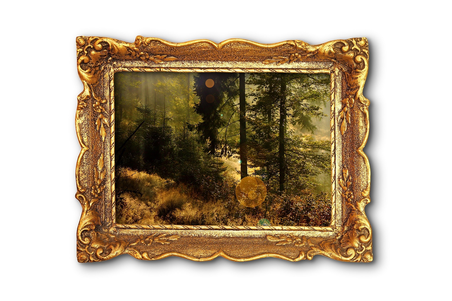 Framed painting