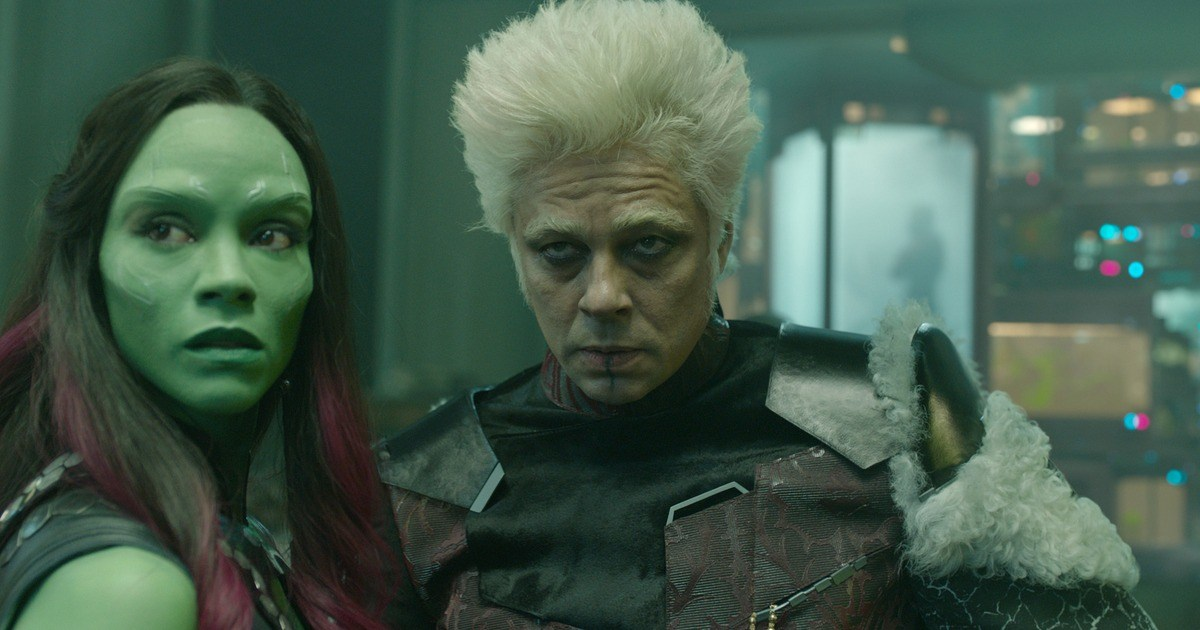 Gamora and the Collector in Guardians of the Galaxy