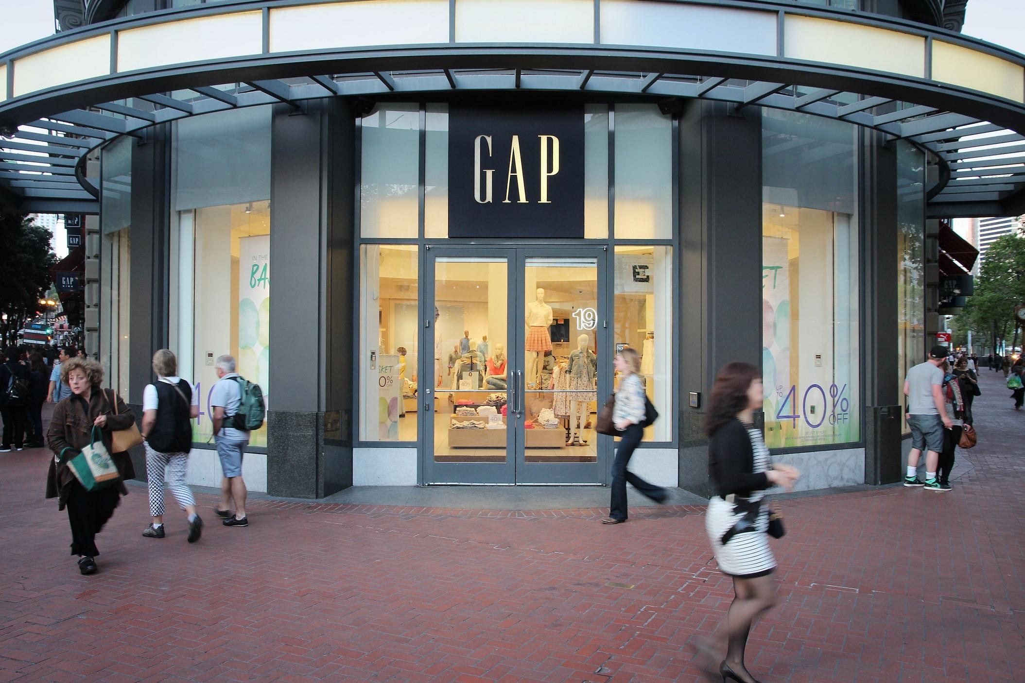 The Gap shop