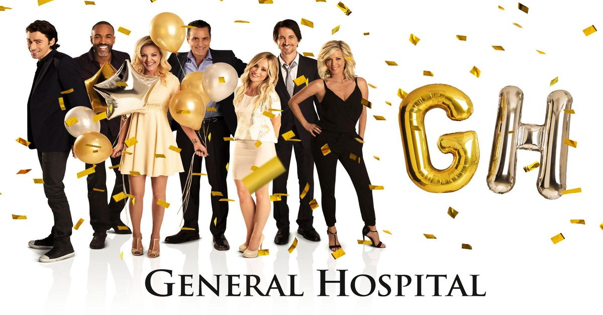 'General Hospital' cast and logo.