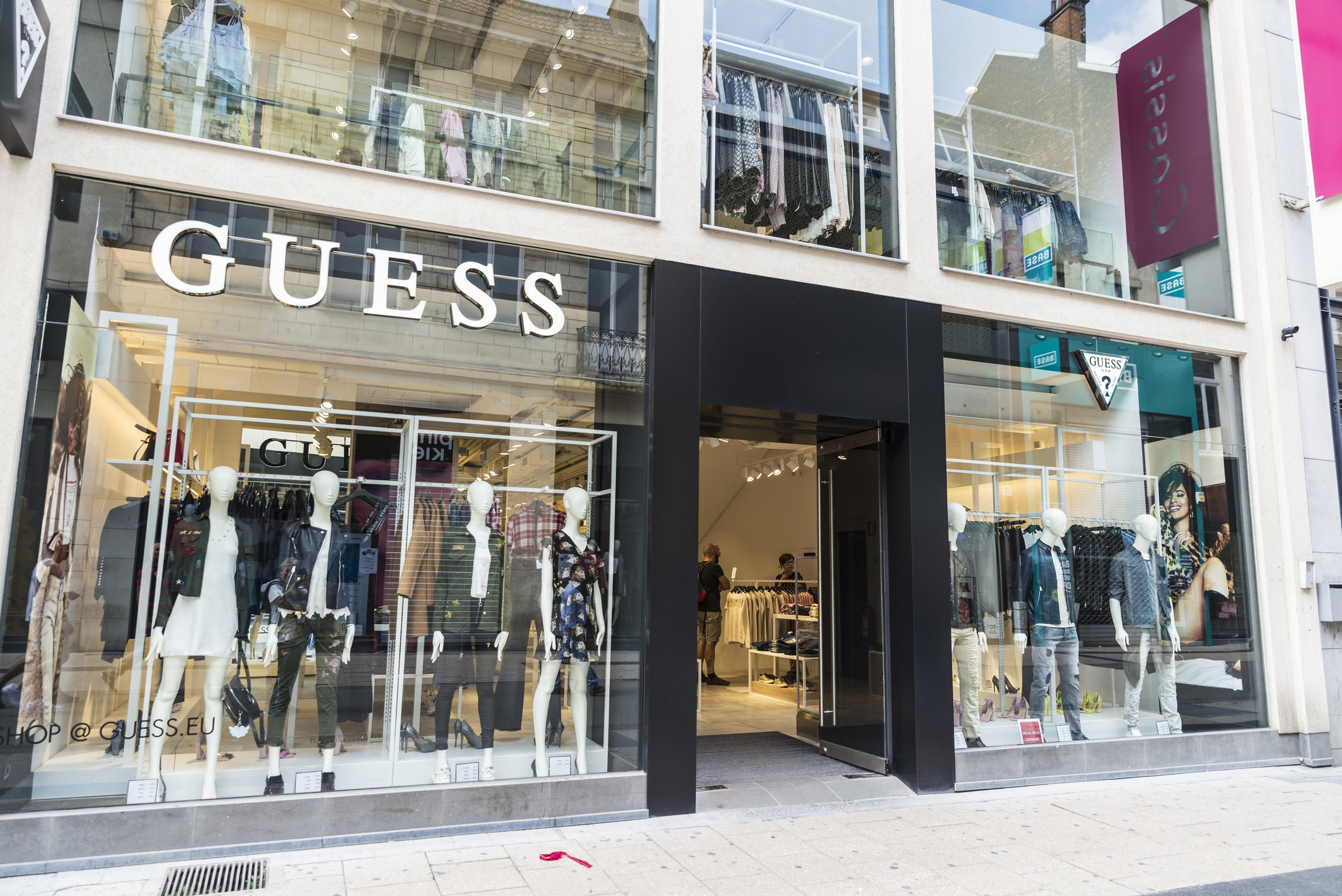 Guess shop in the center of Brussels, Belgium