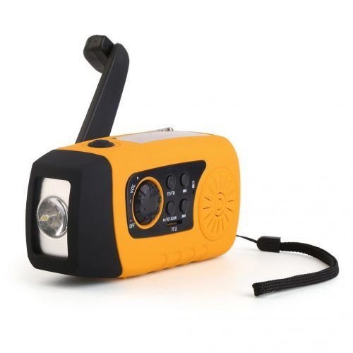 Solar Hand Crank Self Powered Emergency FM Radio