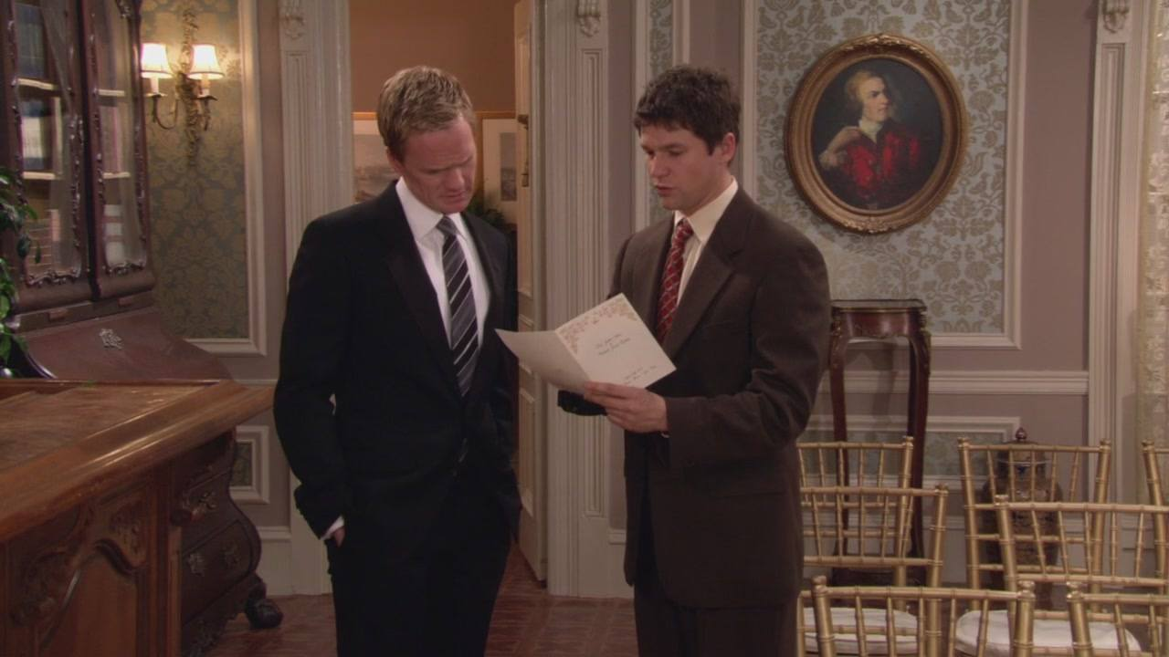 Neil Patrick Harris as Barney Stinson and David Burtka as Scooter on How I Met Your Mother