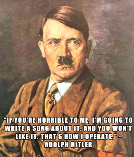 hitler with taylor swift quote