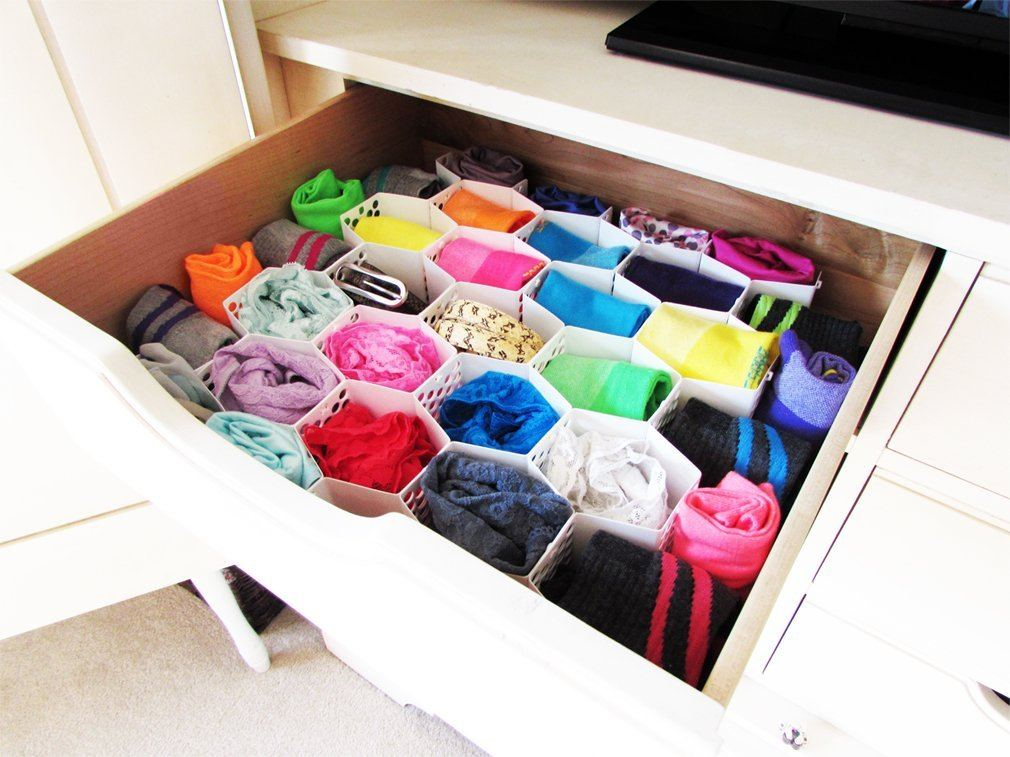 Evelots Honeycomb Drawer Organizers