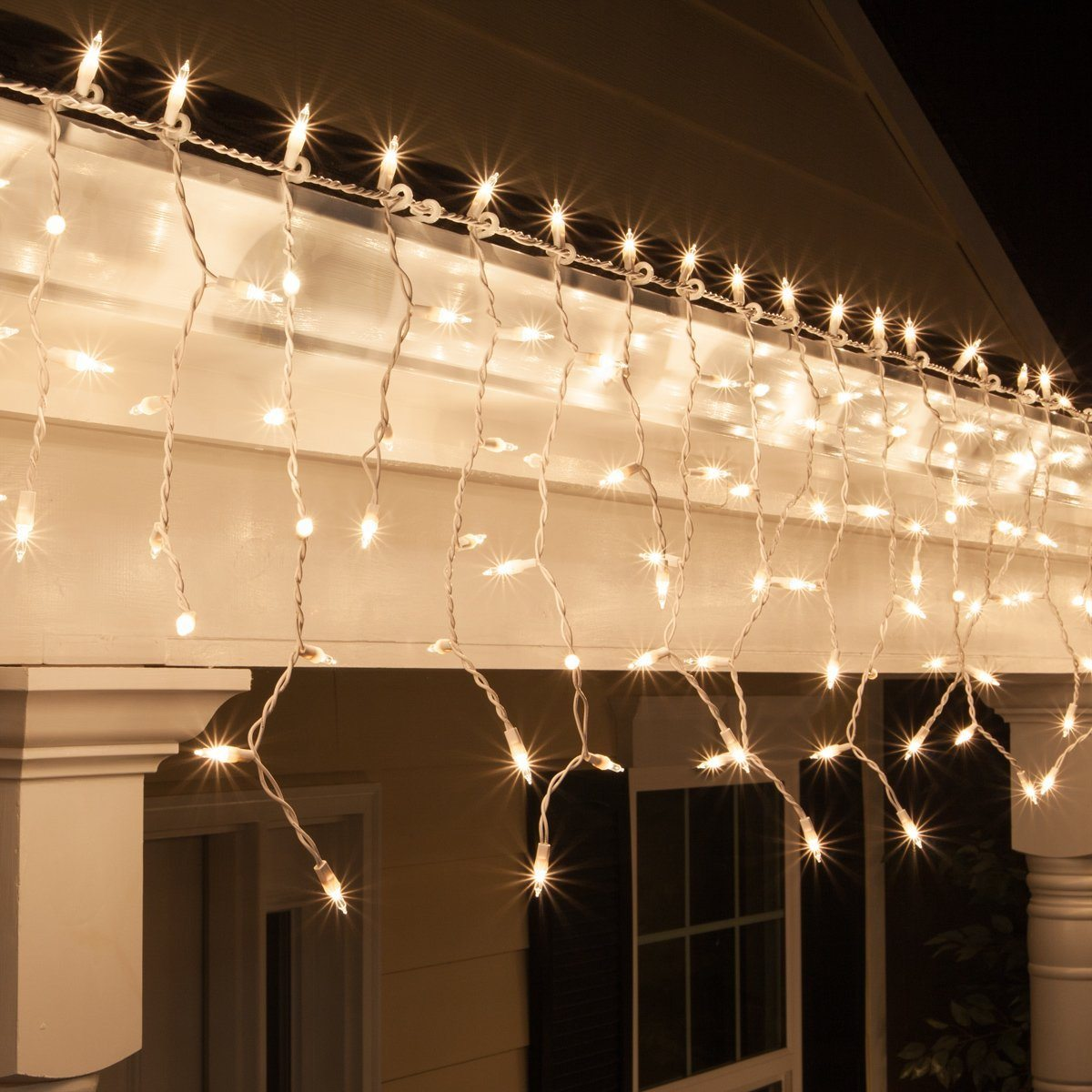 Clear Icicle Lights