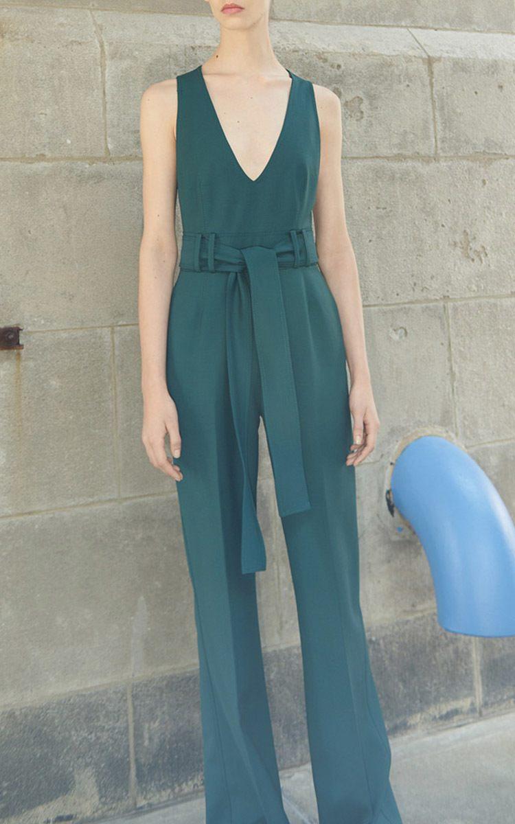 Gabriela Hearst Lennox Day Wool Jumpsuit
