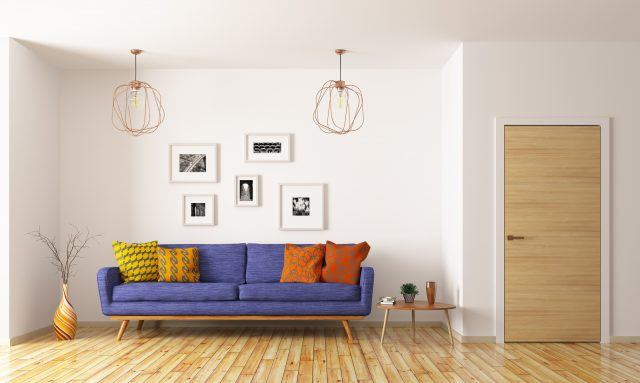 Living room with gallery wall