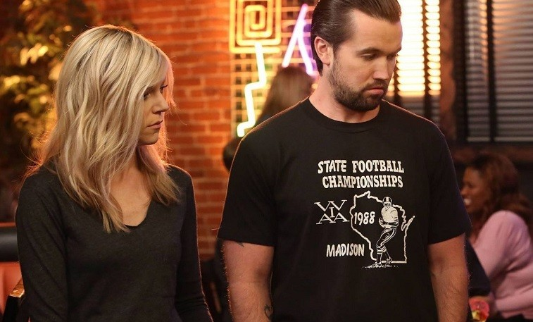 Kaitlin Olson as Dee Reynolds and Rob McElhenney as Mac on It's Always Sunny in Philadelphia