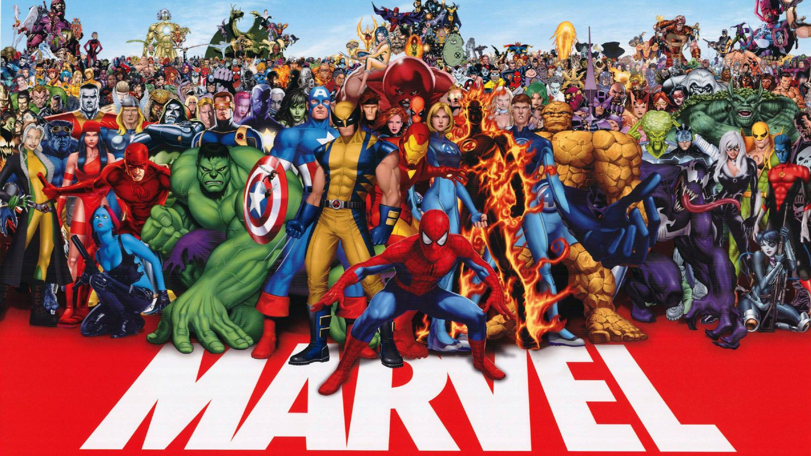 A group of Marvel comic book characters