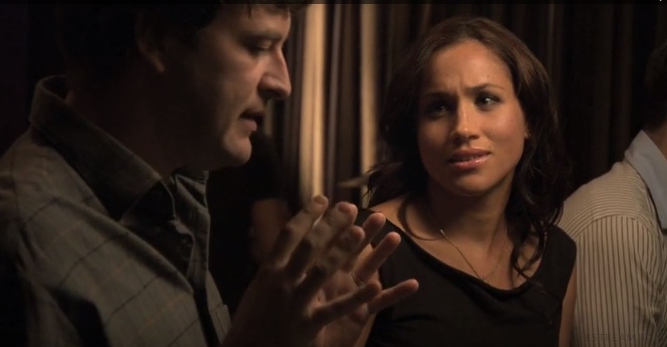Meghan Markle with Mark Duplass on The League
