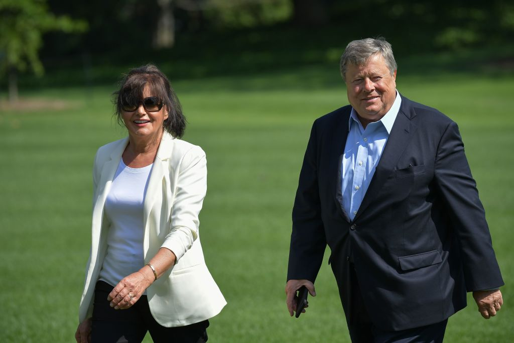 Viktor and Amalija Knavs, the parents of US First Lady Melania Trump