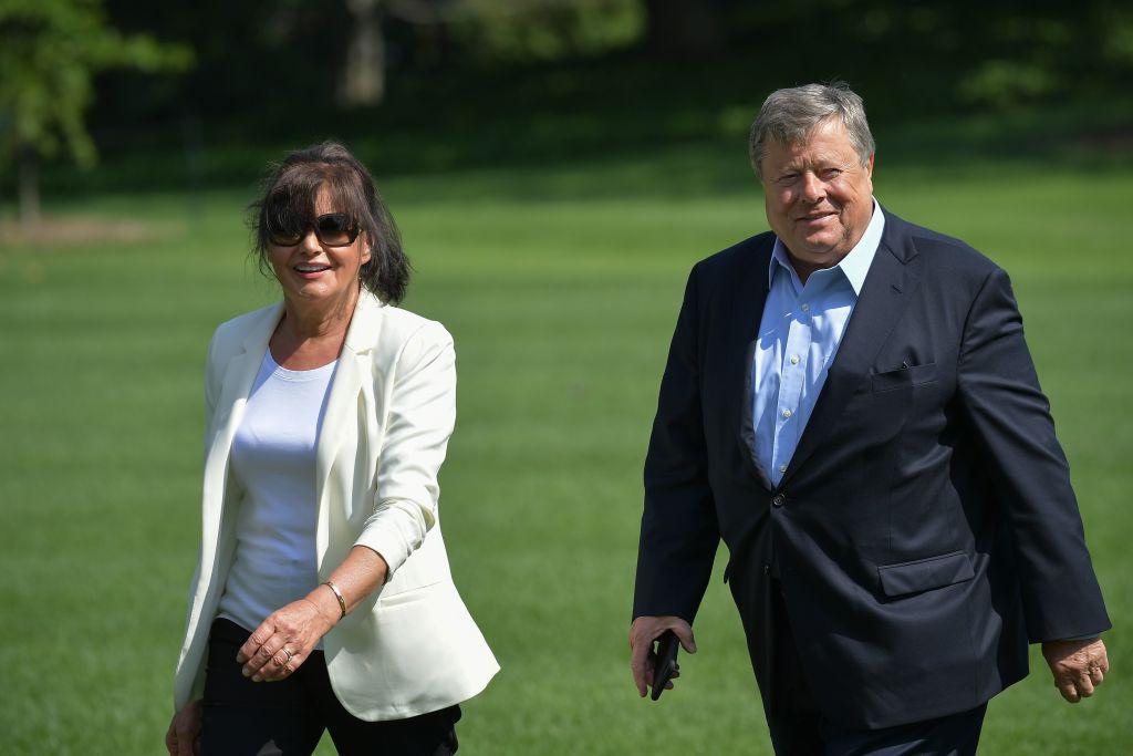 Viktor and Amalija Knavs, the parents of US First Lady Melania Trump