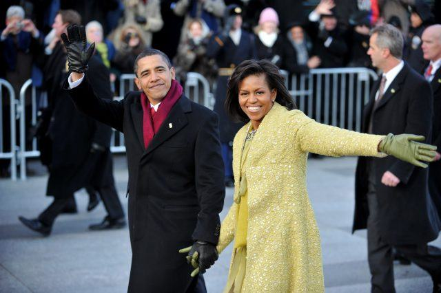 Barack and Michelle Obama at the Inauguration.