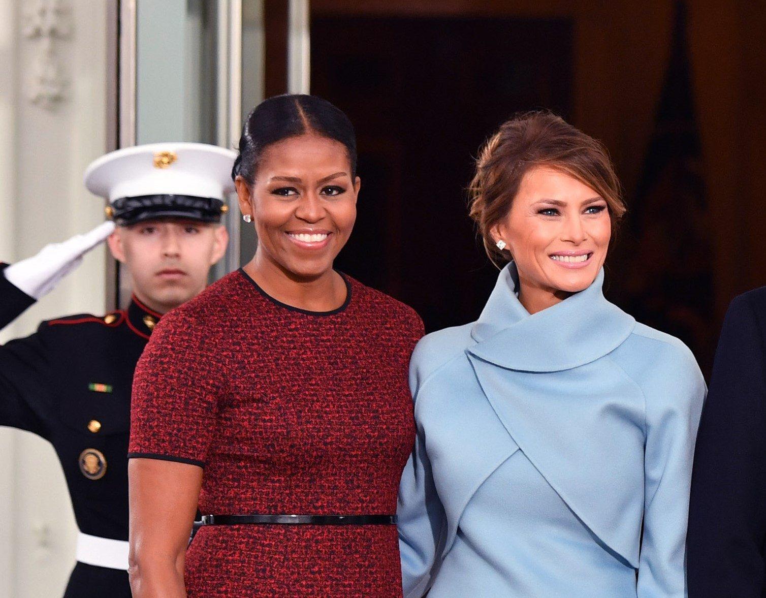 Melania Trump and Michelle Obama