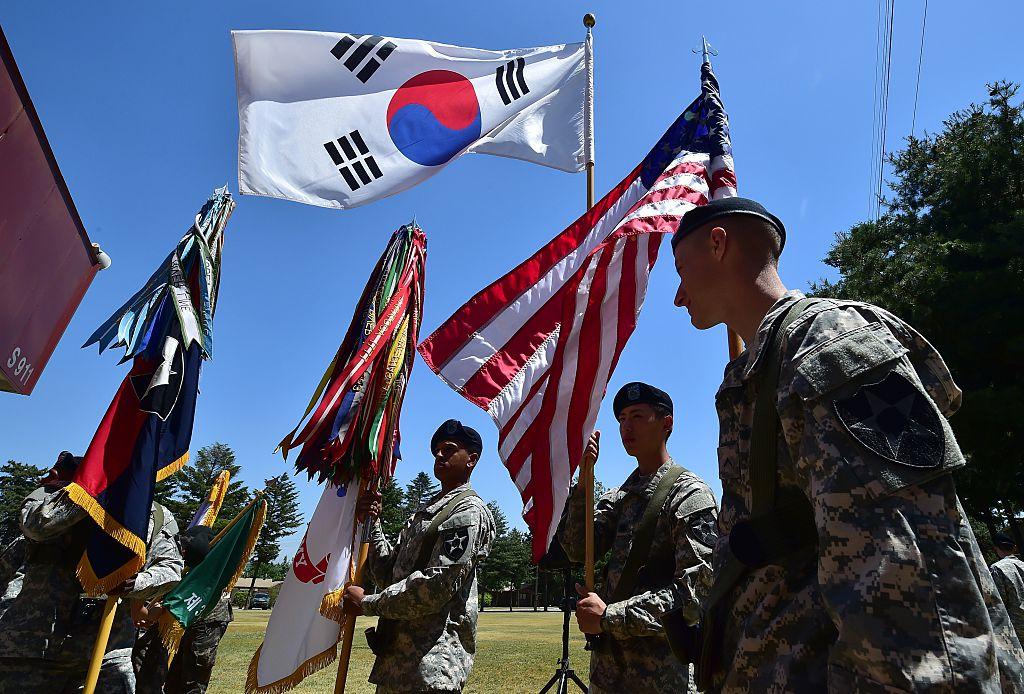 A U.S. military base in South Korea